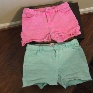 Children's place cut off Jean shorts
